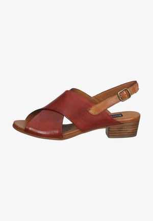 Sandals - spoletto mattone/ vegetale cuoio 368310