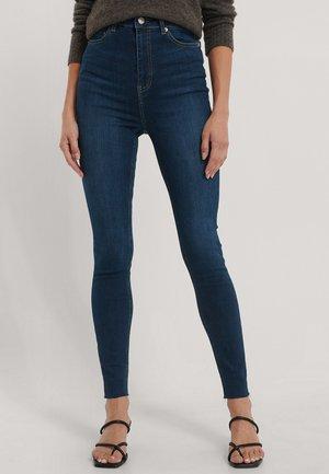 MIT SUPER HOHER TAILLE - Jeans Skinny Fit - dark blue
