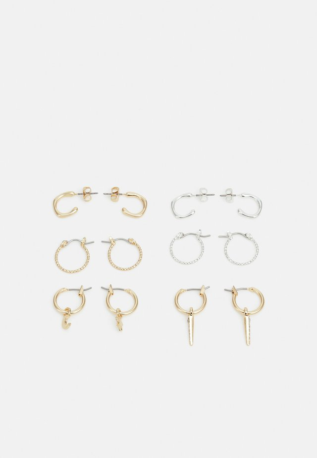 FGOLIVIA EARRINGS 6 PACK - Øreringe - gold-coloured/silver-coloured