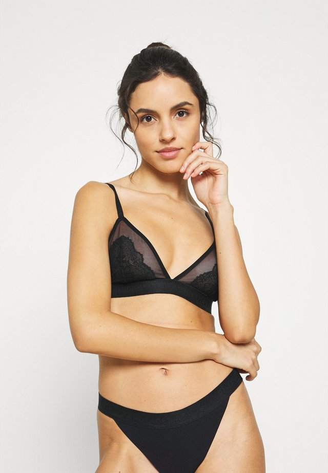TAILORED TRIANGLE BRA - Triangel BH - black