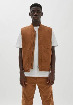 Waistcoat - mottled light brown