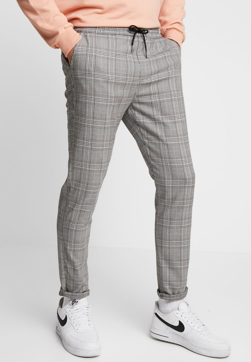 Brave Soul - COLTON - Trousers - black/brown