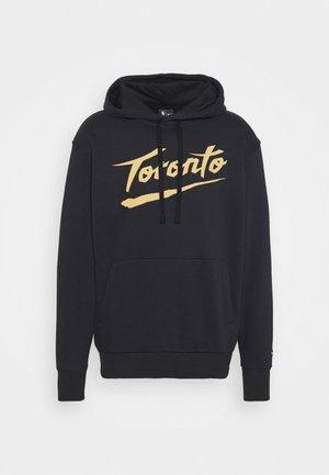 NBA TORONTO RAPTORS CITY EDITION ESSENTIAL HOODIE - Club wear - black/club gold