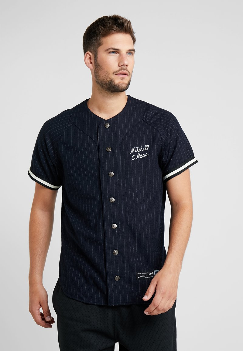 Mitchell & Ness - BASEBALL  - T-Shirt print - navy