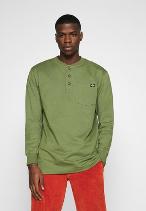 HENLEY TEE - Long sleeved top - army green