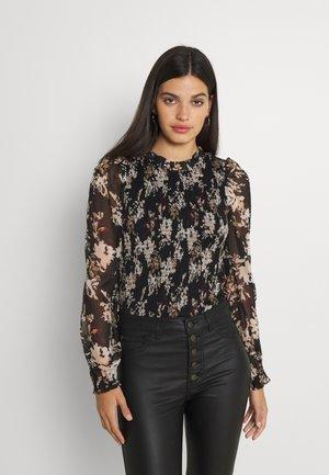 VMFRIDA  SMOCK - Bluzka z długim rękawem - black