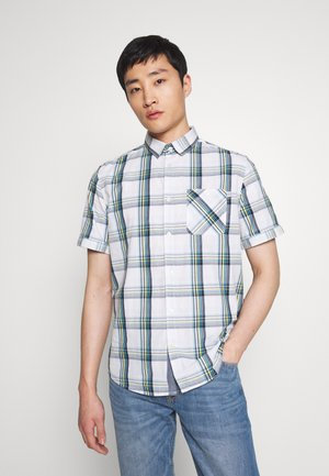 RAY COLOURFUL CHECK PACKAGE - Shirt - white base/blue