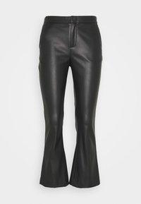 CORNELIA TROUSERS - Leather trousers - black