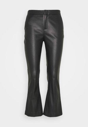 CORNELIA TROUSERS - Kožené kalhoty - black