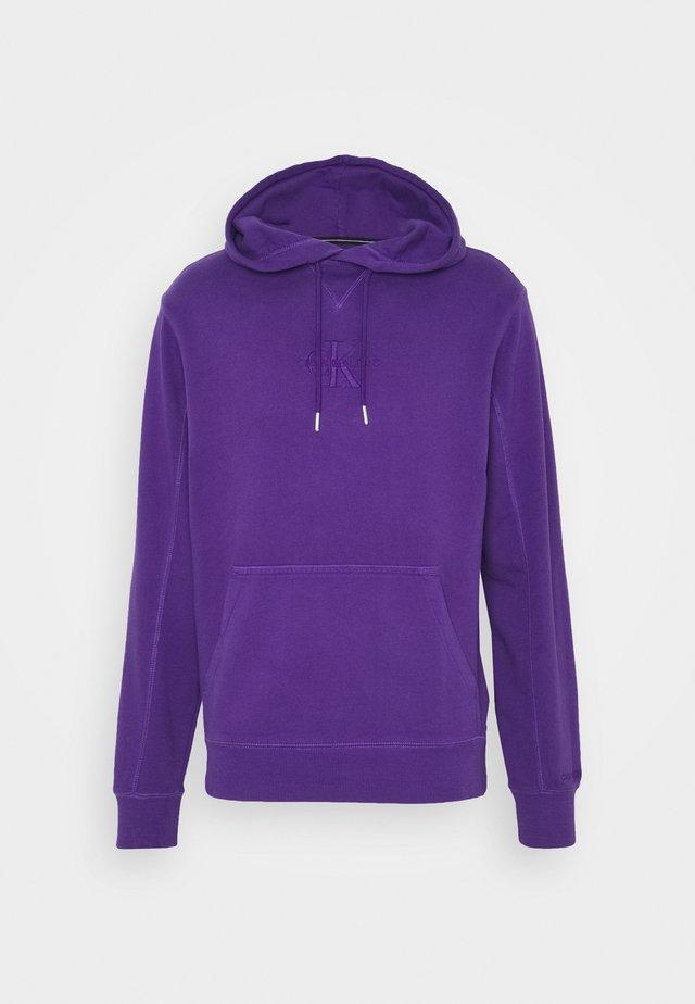 ACID WASH HOODIE UNISEX - Hoodie - gentian violet