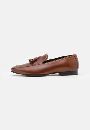 LEATHER - Smart slip-ons - brown