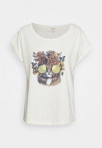 Cream - CARRIECR - Print T-shirt - white - 4