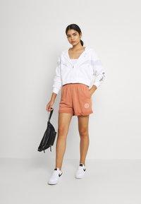 Nike Sportswear - AIR HOODIE - Zip-up sweatshirt - white/pure platinum/black - 1