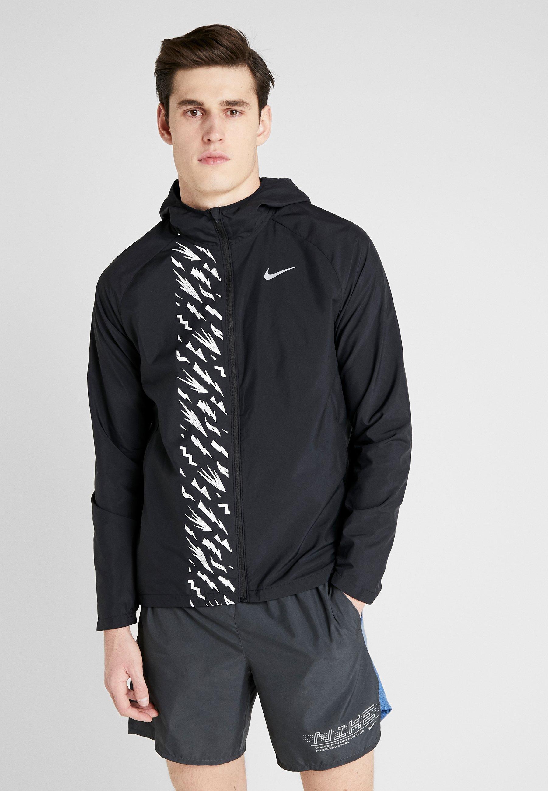 Tukkulaatu Miesten vaatteet Sarja dfKJIUp97454sfGHYHD Nike Performance Juoksutakki black/reflective silver