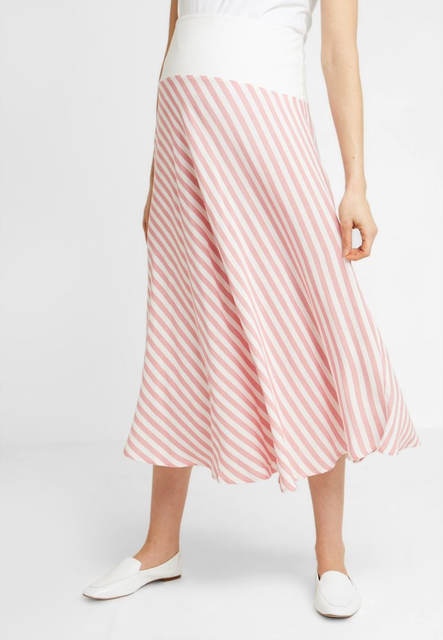 SKIRT BREEZE - Maksihame - white/red