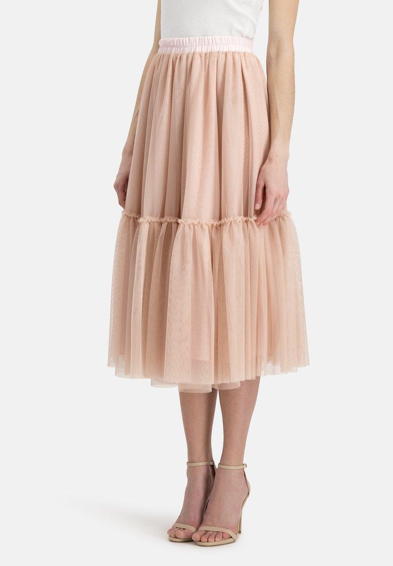 Nicowa - Pleated skirt - lachs