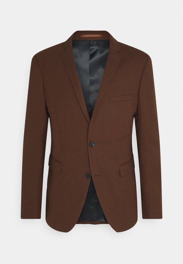 HOPSACK - Suit - rust brown