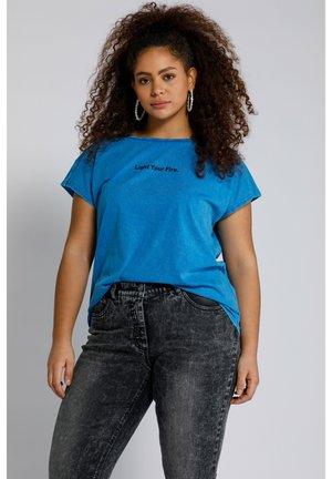 Print T-shirt - royalblau
