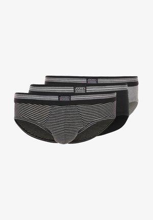 3 PACK - Briefs - black/grey