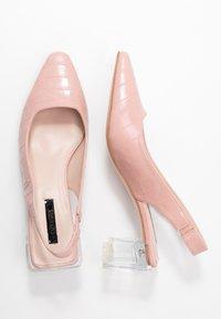 Lost Ink - SLINGBACK HEEL SHOE - Classic heels - nude - 3