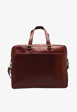 LUGANO - Briefcase - cognac