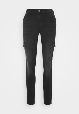 ONLLUCKY LIFE CARGO  - Jeans Skinny Fit - black