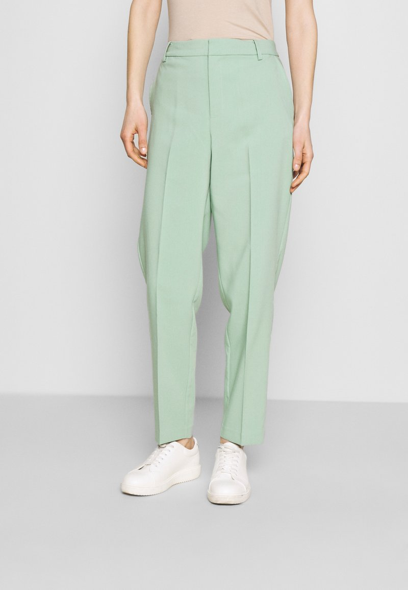 Part Two - HANNELISE - Pantalones - granite green