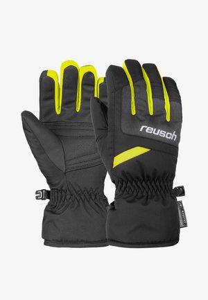 BENNET - Gloves - blck/blck mel/safety yell