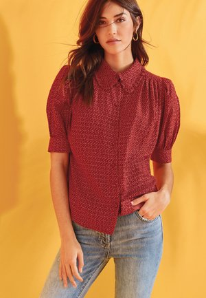 Button-down blouse - berry