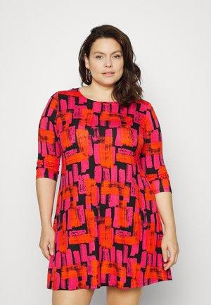 Jersey dress - red brush stroke