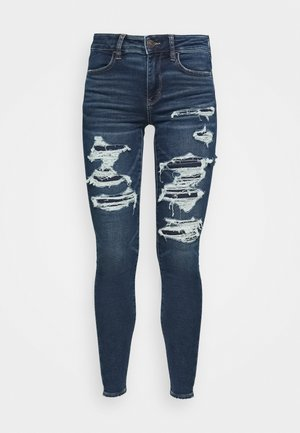 HIGH RISE JEGGING - Jeans Skinny Fit - shadow patched blues