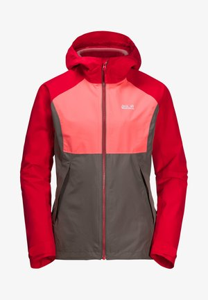 3 IN 1   - Hardshell jacket - clear red