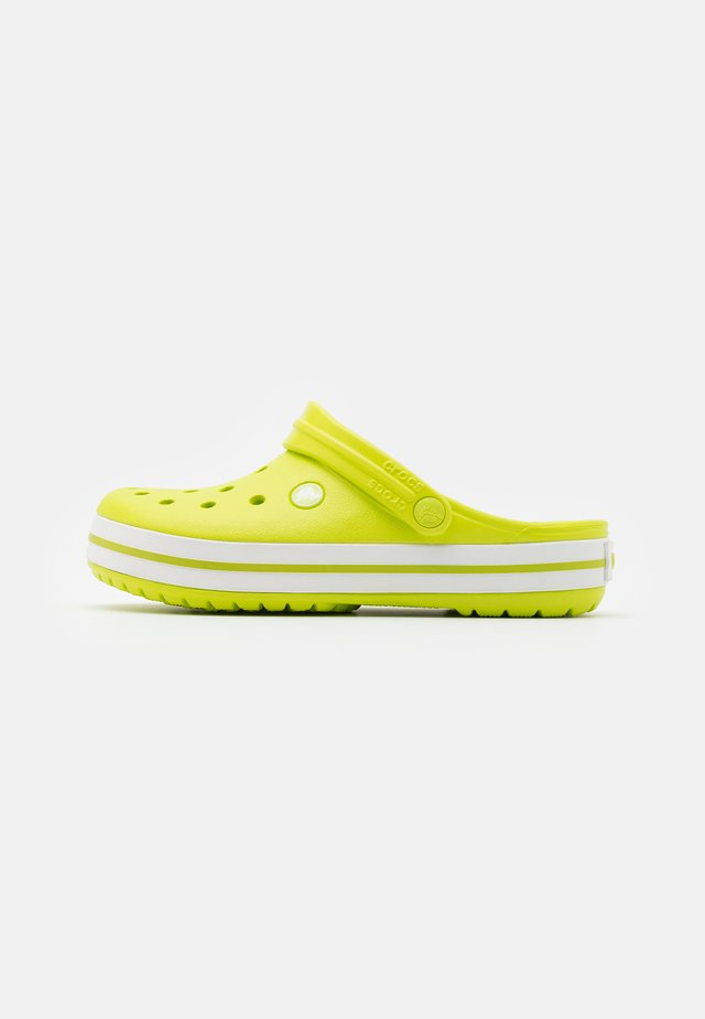 CROCBAND UNISEX - Zuecos - lime punch/white