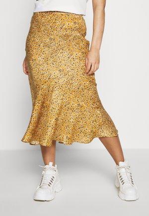 LEO FLOUNCE - A-snit nederdel/ A-formede nederdele - mustard