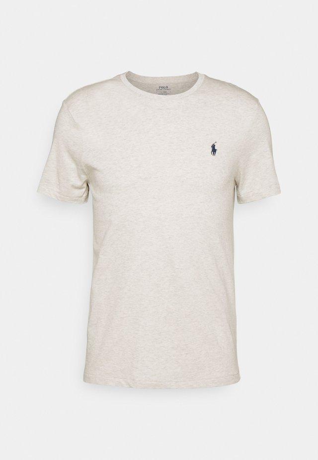 CUSTOM SLIM FIT CREWNECK - T-shirt basic - american heather