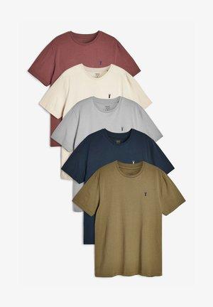 5 PACK - T-shirt basic - mottled light blue