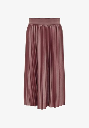 Pleated skirt - rose brown