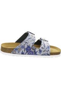 AFS Schuhe - ZWEISCHNALLER - Slippers - marine flower - 4