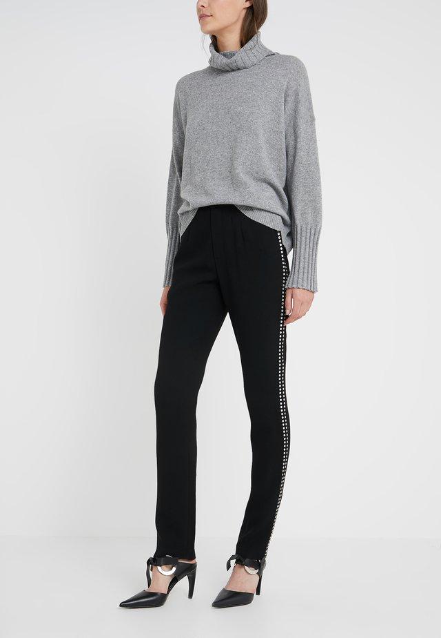 CHARLENE GLAM PANTS - Spodnie materiałowe - black