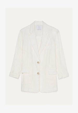 Halflange jas - white