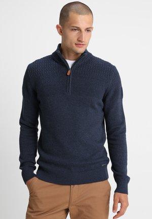 Pullover - mottled dark blue