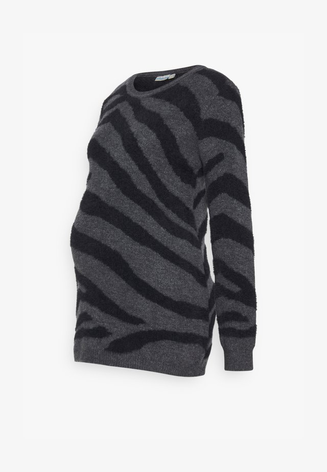ZEBRA JUMPER - Pullover - marl grey