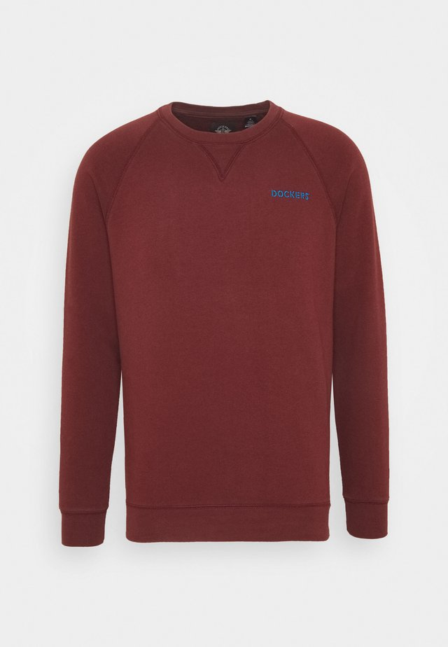 LOGO CREWNECK - Sweatshirts - chestnut red