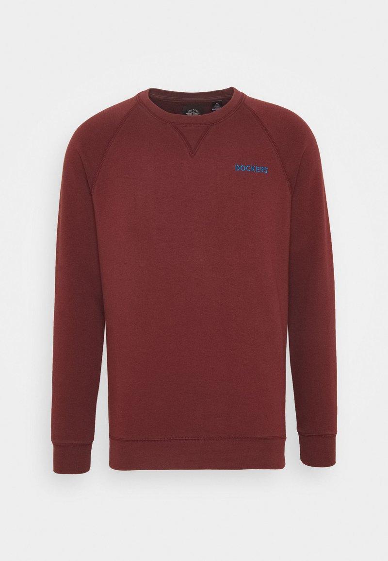 DOCKERS - LOGO CREWNECK - Sweatshirt - chestnut red