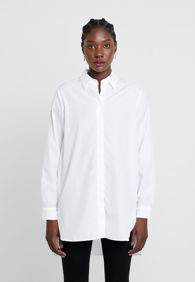 LONG LANGARM - Button-down blouse - weiß