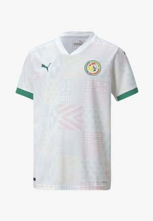 SENEGAL HOME REPLICA YOUTH - Club wear - puma white-pepper green