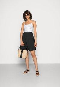Moss Copenhagen - LANA SKIRT - Mini skirt - black - 1