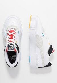 Puma - CALI SPORT - Trainers - white/black/high risk red - 5