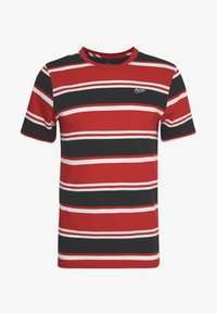 Nike Sportswear - STRIPE TEE - Camiseta estampada - white/university red/black - 4