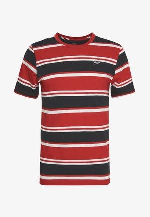 STRIPE TEE - Print T-shirt - white/university red/black
